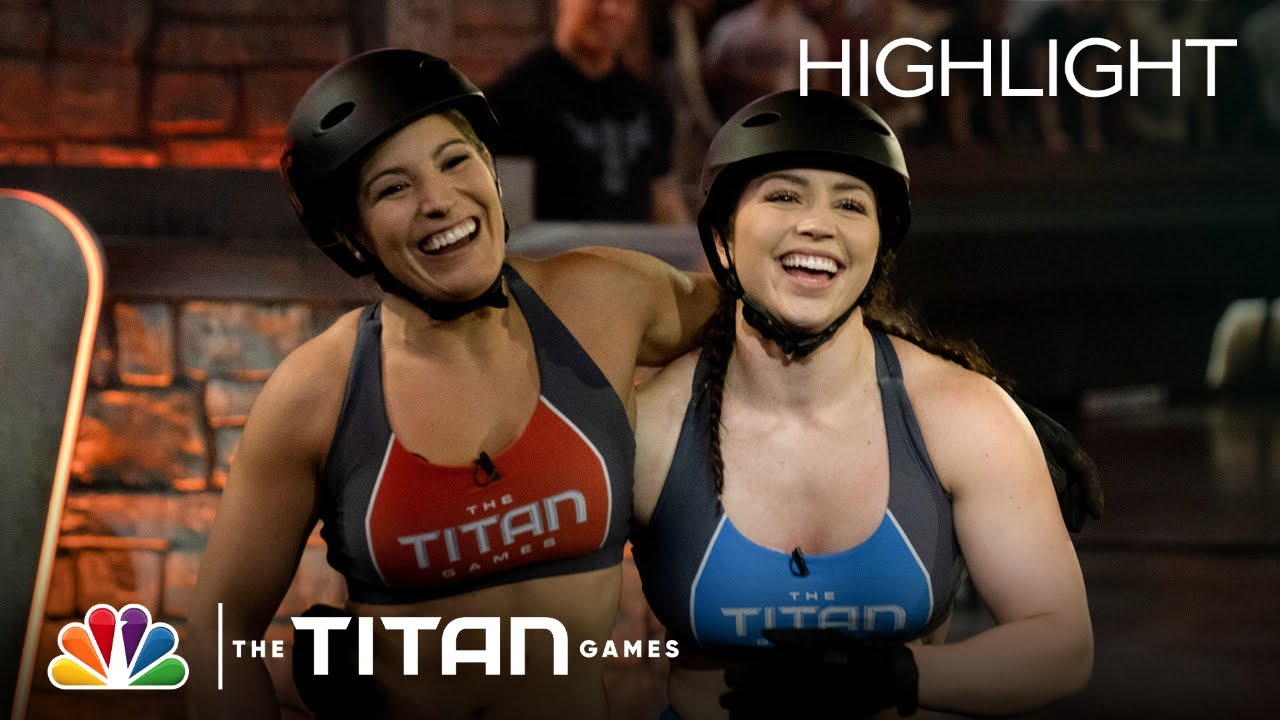 Haley Johnson and Cynthia Gauthier Cling for Life on Chain Linked - The Titan Games