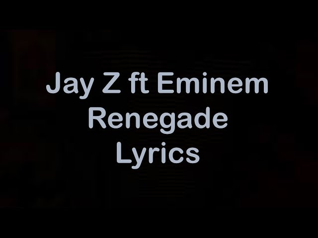 Jay z renegade lyrics genius lyrics malvernweather Choice Image