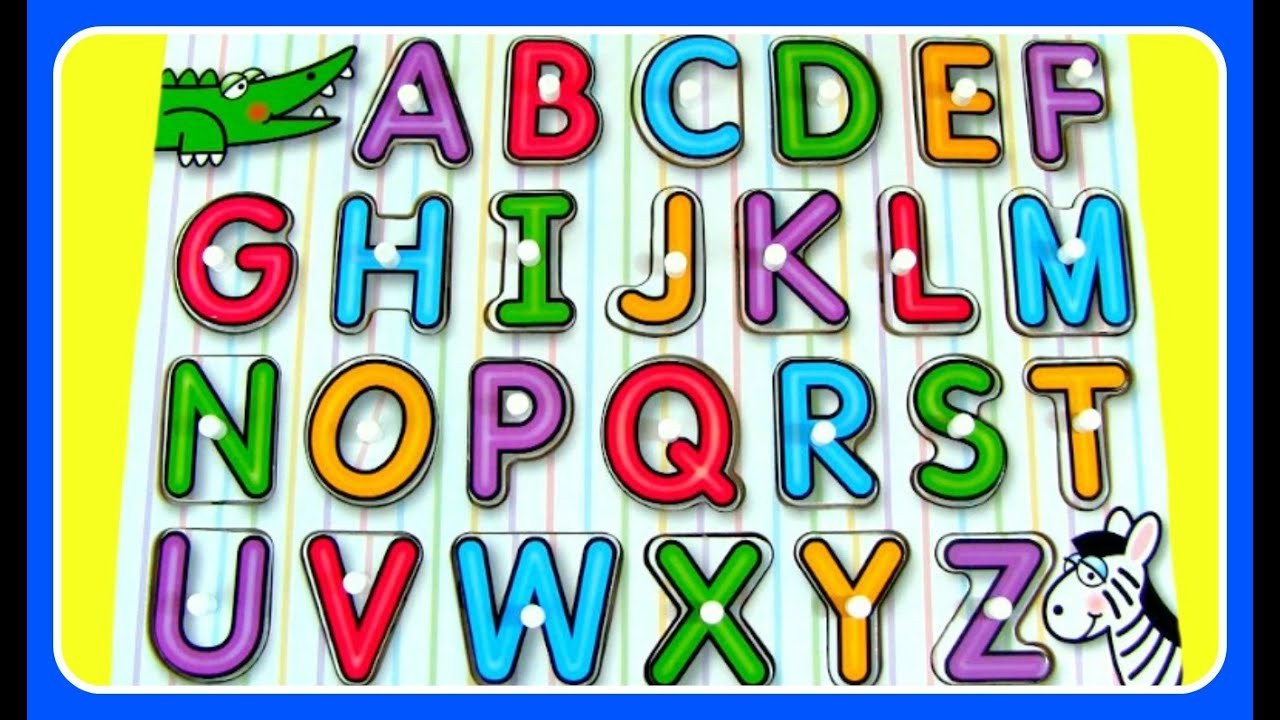 Learn ABC Alphabet Puzzle FUN Video For Preschool Kids Toddlers Babies
