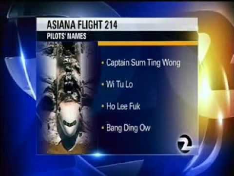 Asiana Pilot names EPIC live news TROLLING!!!!!