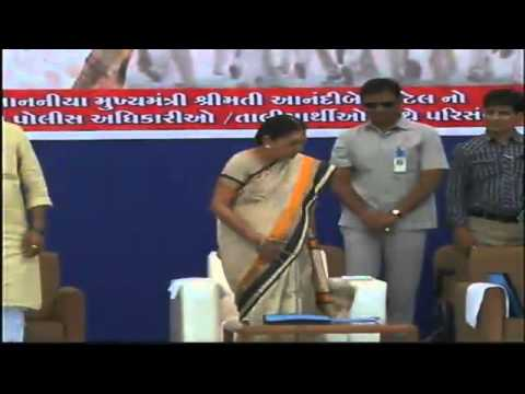 Gujarat  CM interacts with trainee women police officers on the occasion of Women's Day