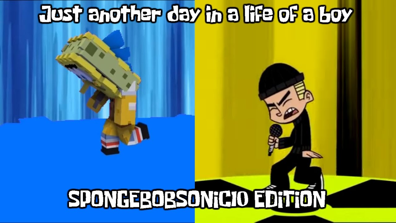 Just another day in a life of a boy from Johnny test SpongeBobSonic10 Edition (Short Animation)