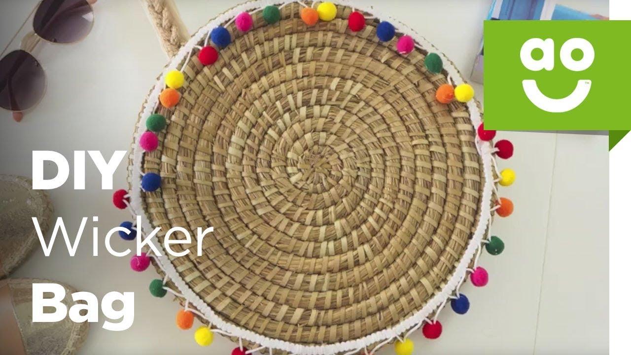 Diy Wicker Summer Beach Bag Ao Com Youtube