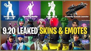 *NEW* Fortnite: ALL 9.20 Leaked Skins & Emotes! (Howard the Alien, Neo Versa, Wonder, CallIsto)