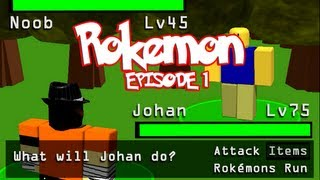 Rokemon Episode 1: The Wild Noob (Roblox Pokemon Parody!)