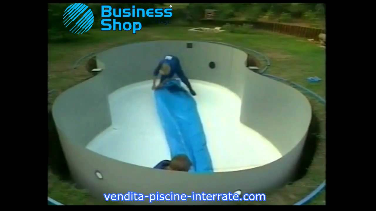 Piscina interrata riva zodiac a forma di otto in kit fai da te video installazione youtube - Piscina seminterrata fai da te ...