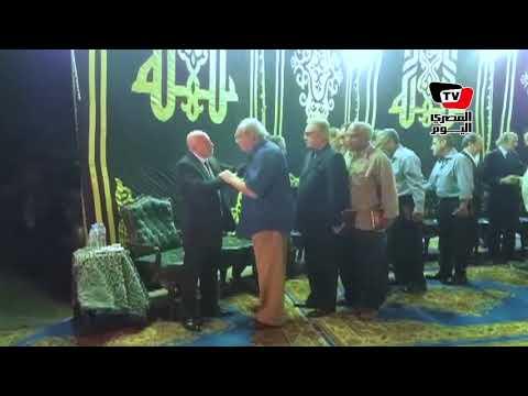 سعيد الشيمي في عزاء المخرج محمد راضي  - 21:21-2017 / 10 / 14