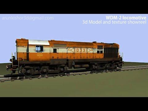 3d diesel locomotive (class WDM-2) showreel by Arun kishor