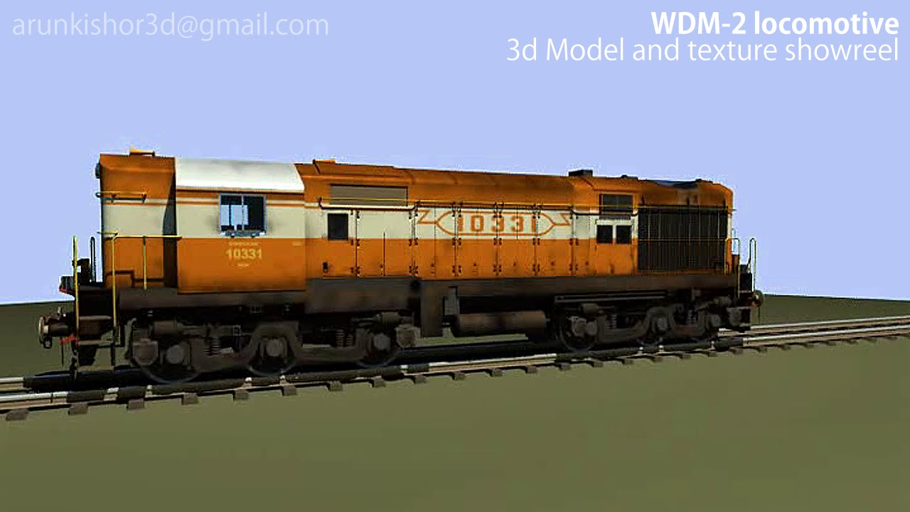 3d diesel locomotive class wdm 2 showreel by arun kishor youtube rh youtube com