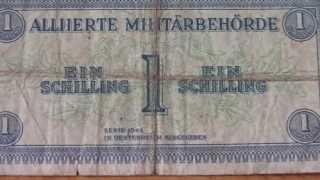 1 Schilling Banknote Geldschein von der Alliierte Militärbehörde