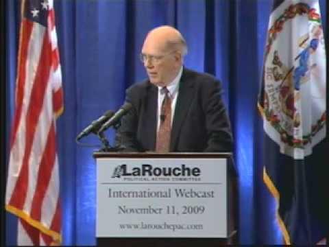 Lyndon LaRouche Webcast - The Great Change of 2009 - Nov. 11, 2009