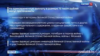 Российские ветераны получат единовременную выплату к 75-летию Победы
