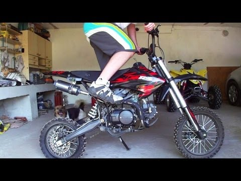 Mini Cross 124cc | Pitbike Minibike | Mały motor motocykl crossowy | Motorcycle exhaust engine