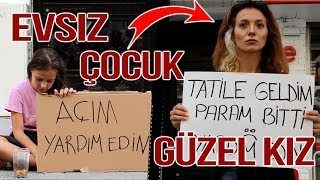 Güzel Kız vs Evsiz Çocuk - Sosyal Deney - Hot Girl vs Homeless Child - Social Experiment