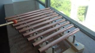 Homemade xylophone