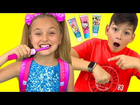 Sasha and Max sing Hurry Up to School Nursery Rhymes song