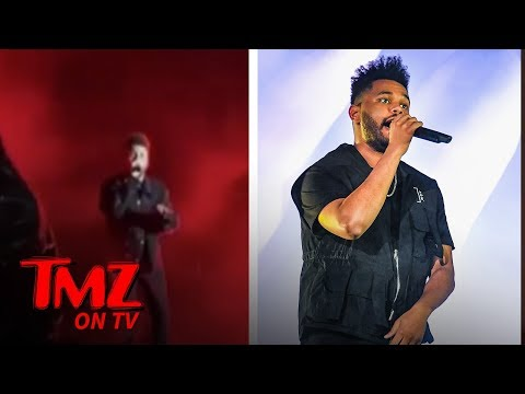 The Weeknd Almost Hit On Stage! | TMZ TV
