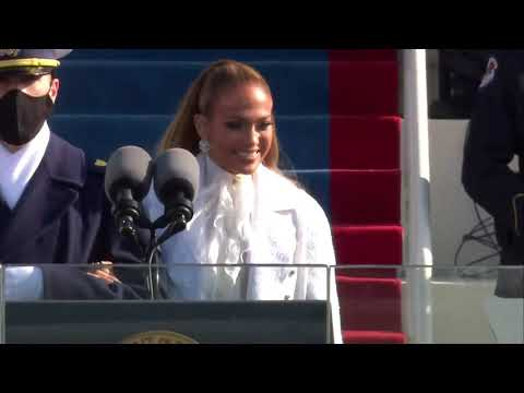 """Jennifer Lopez - """"This Land Is Your Land"""" & """"America, The Beautiful"""" - Inauguration 2021 Performance"""