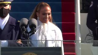 Jennifer Lopez - 'This Land Is Your Land' & 'America, The Beautiful' - Inauguration 2021 Performance