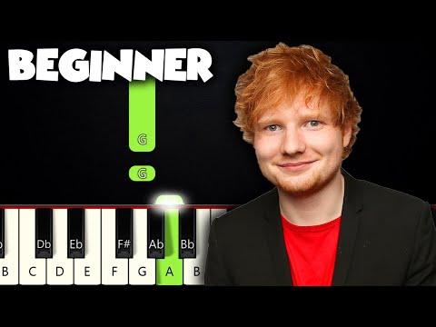 Perfect - Ed Sheeran | BEGINNER PIANO TUTORIAL + SHEET MUSIC by Betacustic