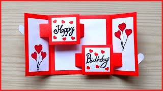 Beautiful Birthday greeting card idea /Handmade birthday greeting card for Best Friend / Slider card