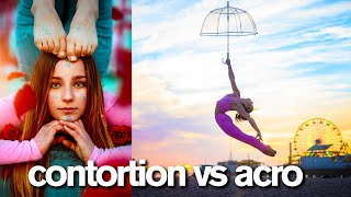 CONTORTION vs ACRO Viral 10 Minute Photo Challenge