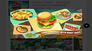 [CASUAL] kitchen master - fast food restaurant (Unreleased) - Newest Android Game Latest APK