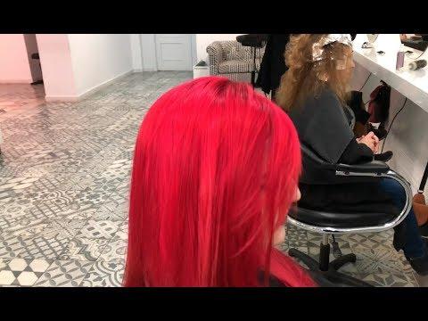 Como hacer un cabello rojo rojo con raices oscuras - 동영상