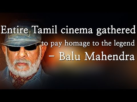 Entire Tamil cinema gathered to pay homage to the legend - Balu Mahendra  Music Details  Track Name : Moon Light Sonata Artist: Beethoven Album: Youtube Audio Library  Legendary filmmaker Mahendra passed away on 13 February at around 11 am in Chennai. He suffered a heart attack, breathed his last at Vijaya Hospital on Thursday.  His body has been kept at the acting school Cinema Pattarai, which was started by him, for fans, relatives and film industry members to pay their last respect to the ace filmmaker.  Bala, Mani Ratnam, Bharathiraja, Mahendran, Ram, Sasikumar, Samuthirakani, Y.Gee.Mahendra and Archana among others paid their last respect.  The current and previous batch students of the acting school were also present to pay homage to the director.As a mark of respect to Mahendra, the heads of Producers' Council, Film Directors' Union and FEFSI said that the industry would not work on Friday, TOI reported.  Mahendra will be cremated on Friday as per the Hindu customs, which is likely to be attended by several  well-known personalities.   http://www.ndtv.com BBC Tamil: http://www.bbc.co.uk/tamil INDIAGLITZ :http://www.indiaglitz.com/channels/tamil/default.asp  ONE INDIA: http://tamil.oneindia.in BEHINDWOODS :http://behindwoods.com VIKATAN http://www.vikatan.com the HINDU: http://tamil.thehindu.com DINAMALAR: www.dinamalar.com MAALAIMALAR http://www.maalaimalar.com/StoryListing/StoryListing.aspx?NavId=18&NavsId=1 TIMESOFINDIA http://timesofindia.indiatimes.com http://www.timesnow.tv HEADLINES TODAY: http://headlinestoday.intoday.in PUTHIYATHALAIMURAI http://www.puthiyathalaimurai.tv VIJAY TV:http://www.youtube.com/user/STARVIJAY  -~-~~-~~~-~~-~- Please watch: