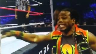 Xavier Woods plays Dolph Ziggler