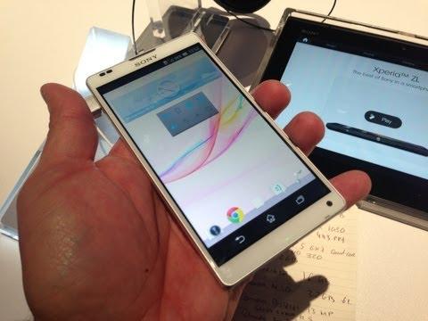 Sony Xperia ZL Primeras Impresiones CES 2013