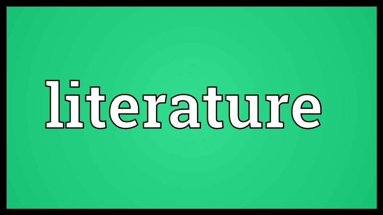 Literature Meaning Youtube
