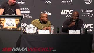 Derrick Lewis Has Beef with Daniel Cormier (UFC 226 Presser)