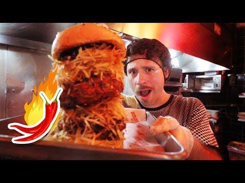 Preparé la hamburguesa MÁS PICANTE DEL MUNDO 🍔🌶