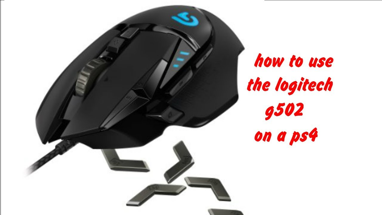 how to use logitech g502 on a ps4
