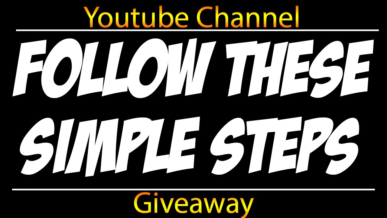 giveaways youtube channel