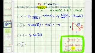 ex 2 first and second derivatives using the chain rule f x ln cos x