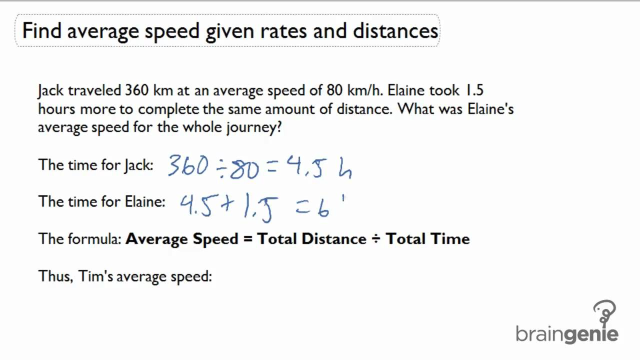 212 Find average speed given rates and distancesword problem – Distance Rate Time Word Problems Worksheet