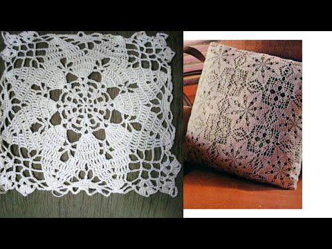 Большой красивый квадрат крючком Big Beautiful Crochet Square