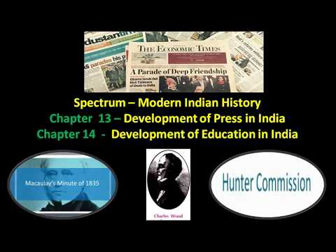 Spectrum History -Chapter 13 and 14 - Press and Education