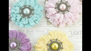DIY:Easy to make package foam flower tutorial by SaCrafters