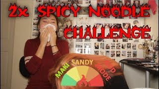 2x Spicy Noodle Challenge [NUMB / TEARS] | Sister Edition