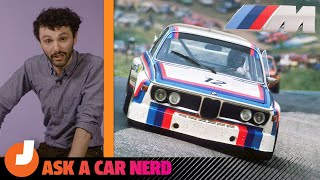 homepage tile video photo for BMW M: Why Those Three Colors? | Ask a Car Nerd | Jalopnik