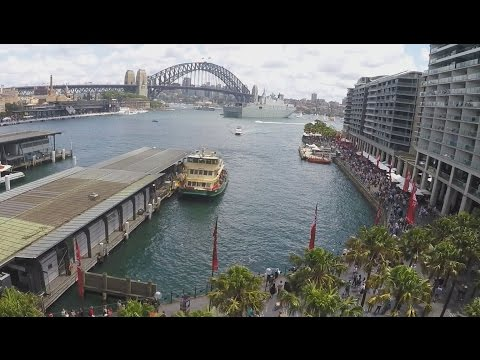 Sydney Harbour - Australia Day 2016 - Walk Around Circular Quay (Using  Feiyu-Tech G4S Steadicam)