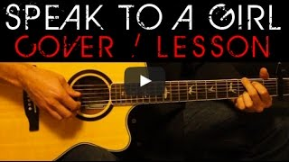 Download SPEAK TO A GIRL - Tim McGraw, Faith Hill Cover 🎸 Easy Acoustic Guitar Tutorial / Lesson Lyrics MP3 song and Music Video