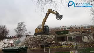 Eerste flat Lariks in Assen door BZN gesloopt