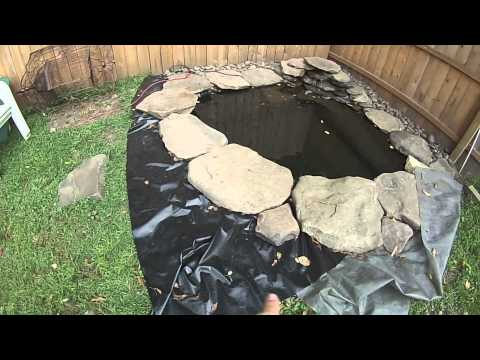 Making A Cheap Pond In Your Yard Diy Youtube
