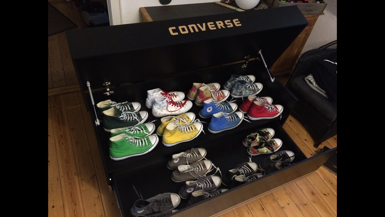 converse all star diy schuhschrank youtube. Black Bedroom Furniture Sets. Home Design Ideas