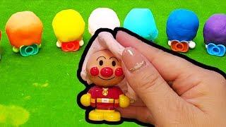 アンパンマンおもちゃアニメ ねんどあそび ❤ 誰が出てくるかな?animation Anpanman Toy