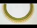 How To Make Bridal Necklace // Designer Necklace // DIY // Chokar // Home Made Tutorial